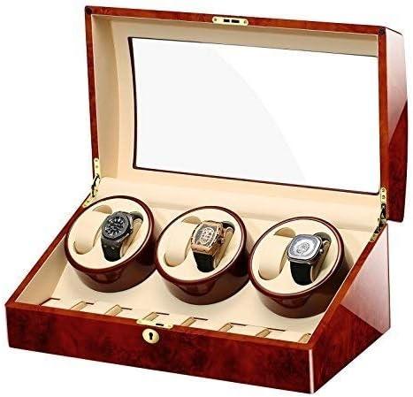 GUOOK Cajas Almacenamiento Relojes AutomáTicos Madera Enrolladores Relojes Dobles para 6 Relojes Enrolladores Relojes para Relojes Personalizados: Amazon.es: Hogar