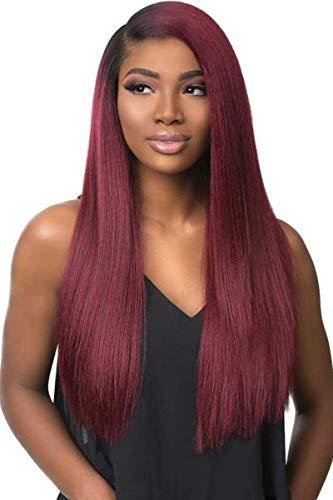 Sensationnel Boutique Bundles Lace Front Wig - Boutique Kinky Straight (1B OFF BLACK)
