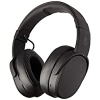 Skullcandy Crusher Bluetooth Wireless Over-Ear Headphones with Microphone, Noise Isolating Memory Foam, Adjustable and Immersive Stereo Haptic Bass, Rapid Charge 40-Hour Battery Life, Black - S6CRW-K591