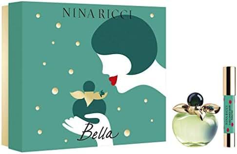 Nina Ricci Bella for Women 2piece Gift Set (2.7 Eau De Toilette Spray + 2.5 G Red Jumbo Lipstick Mate), 5.2 Oz