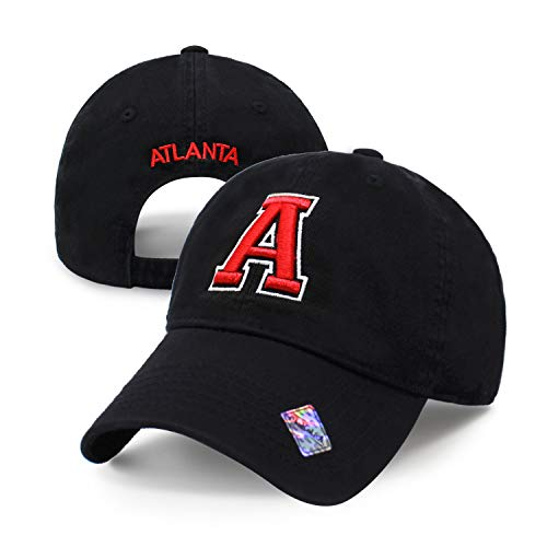 Football City Initial Letter Cotton Cap Dad Hat Baseball Cap Polo Style Low Profile (Atlanta) (Atlanta Beanie With Pom)