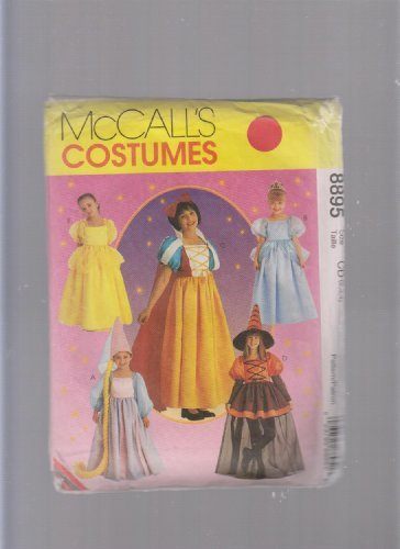 McCall's Costumes 8895 Sewing Pattern ; Halloween Disney Princess Snow White, Cinderella, Witch, Rapunzel,
