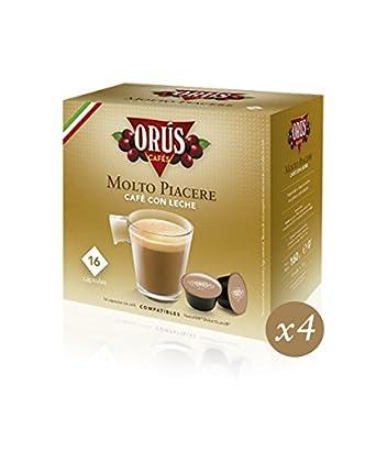Cápsulas Molto Piacere Café con Leche Orús. 4 Estuches 16 cápsulas.: Amazon.es: Alimentación y bebidas