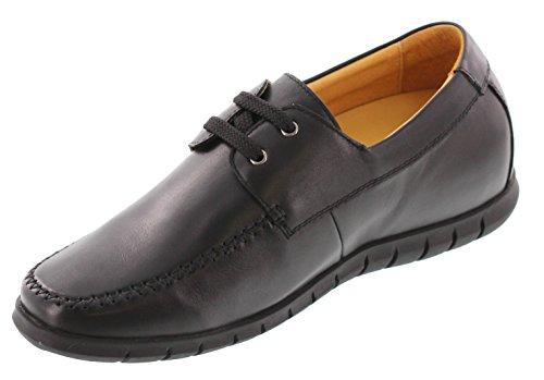 Toto H33309-2.6 Inches Taller - Hoogte Toenemende Liftschoenen - Zwarte Superlichte Casual Schoenen