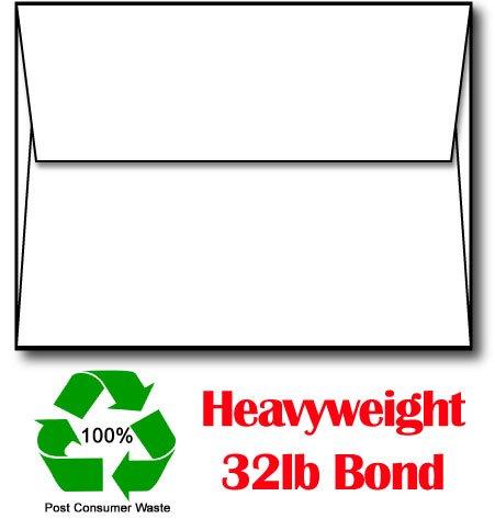A2 White 32lb Bond 100% Recycled Envelopes - 250 (Recycled Desktop)