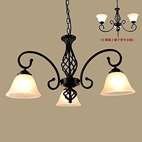 Gunxifacai Salón Us-Style Continental candelabros de hierro ...