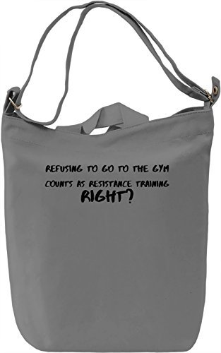Resistance training Borsa Giornaliera Canvas Canvas Day Bag| 100% Premium Cotton Canvas| DTG Printing|