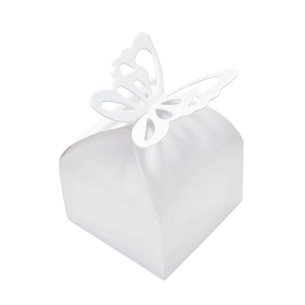 JZK 100pcs 50 paires mariée et le marié mariage boîtes de faveur boîte de confettis boîte-cadeau pour favorise les bonbons confettis bijoux pour l'anniversaire de mariage poule fête anniversaire