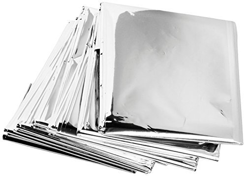 Emergency Mylar Thermal Blankets (Pack of 50) Fold Thermal Blanket