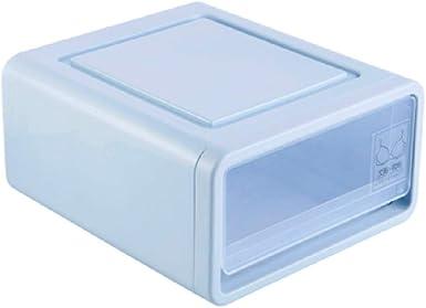 HWYP Gran caja de almacenamiento de plástico grande transparente - cajas fuertes y apilables: Amazon.es: Ropa y accesorios