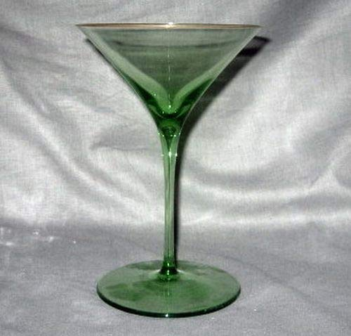 J.L.Coquet Catherine Green Martini Glass]()