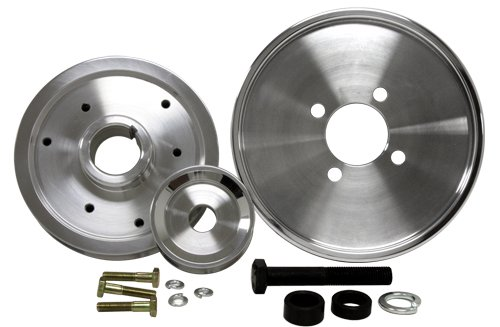 4.6L Compatible/Replacement for FORD MUSTANG GT COBRA 01-04 BILLET SERPENTINE PULLEY SET - POLISHED