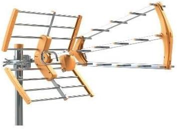 Antena TDT LTE Media Ganancia 15 dB BKM Naranja