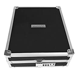 Vaultz Locking Business Card Box, Holds 1400 Cards, 10 x 3.25 x 8.25, Black (VZ00324)