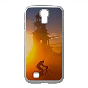 Sandstorm At Sunset Watercolor style Cover Samsung Galaxy S4 I9500 Case (Sun & Sky Watercolor style Cover Samsung Galaxy S4 I9500 Case) by icecream design