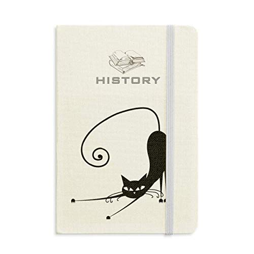 Stretch Black Cat Halloween Animal Art Silhouette History Notebook Classic Journal Diary -