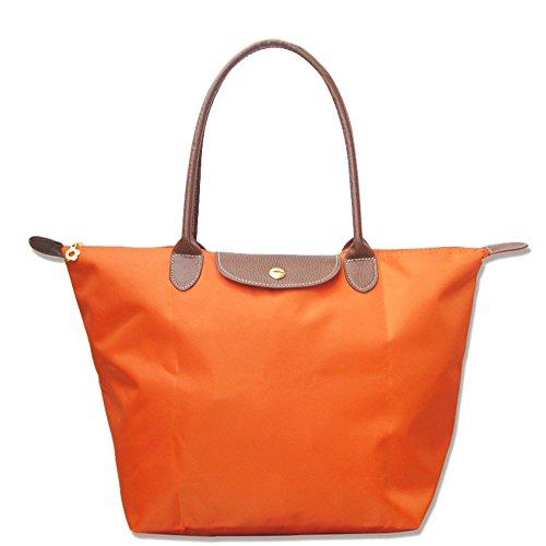 Tote Waterproof Travel Beach BEKILOLE Bag Women's Orange Shoulder Stylish Bags Nylon UqnWStTw