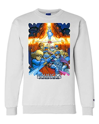 Nausicaa of The Valley of The Wind Anime Unisex Champion Crewneck Sweatshirt White (Nausicaa Of The Valley Of The Wind Anime)