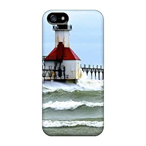 Waterdrop Snap-on Duel Lighthouses In Rough Seas Case For Iphone 5/5s