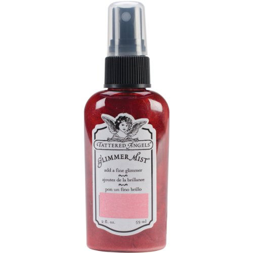 Tattered Angels GLM-21038 Glimmer Mist, 2-Ounce, Pink - Angels Tattered Spray Glitter