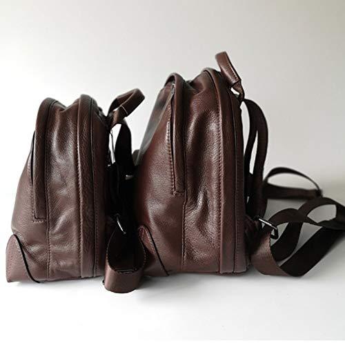 Cartable Dos Sac 25 A Femme 14 Porté 21 22cm Sacs Sac Dos Main Mode 23 Brown Sac Travel Sac 13 Sac Epaule à à à Cuir Bandoulière Bag 74Y8w