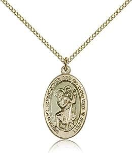 saint christopher medals gold plated st christopher. Black Bedroom Furniture Sets. Home Design Ideas