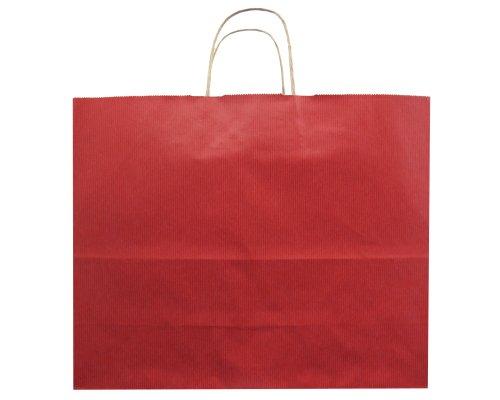 Jillson Roberts Bulk Jumbo Recycled Kraft Bags, Red, 250-Count (BJK909)