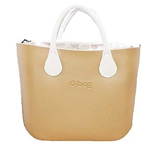 OBAG Borsa o bag mini champagne sacca farfalle cipria manico corto bianco 5