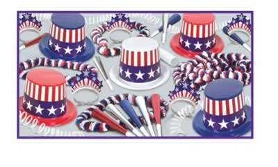 Beistle Spirit Of America Party Favors for 25 People, -