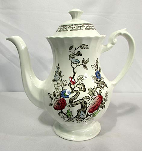 J&G Meakin England Staffordshire White Kashmir Indian Tree 5 Cup Coffee Pot ()