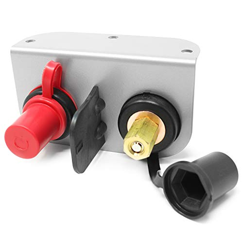 Heavy Duty Remote Battery Charging and Jumper Terminals with Mounting Bracket, Made in the USA