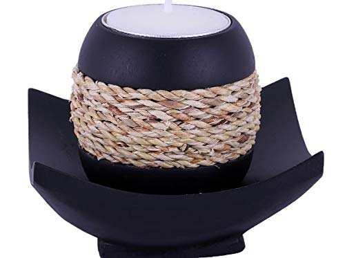 Baimai Tea Light Candle Holder Set with Rope (Candle Holders Decorated)