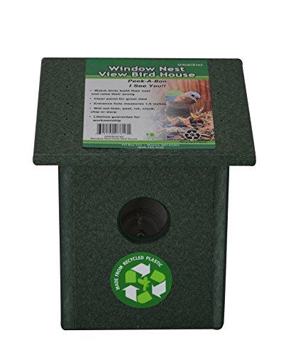 (Songbird Essentials Recycled Plastic Window Nest View Bird House)