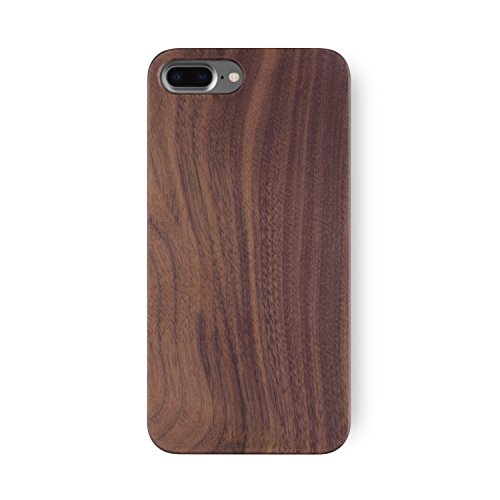 Walnut Wood Case - iPhone 8 PLUS / 7 PLUS Case. iATO Real WOODEN Premium Protective Snap On Cover. Unique, Classy & Stylish WALNUT Wood Bumper Accessory for Apple iPhone 7 PLUS / 8 PLUS