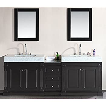 Design Element Odyssey Double Trough Style Sink Vanity Set