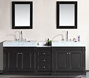Design Element Odyssey Double Trough Style Sink Vanity Set 90 Inch Bathroom Vanities