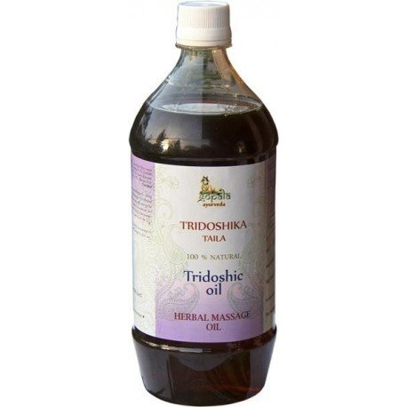 - Tridoshic Oil - 100% USDA CERTIFIED ORGANIC - Ayurvedic Body Massage Oil - 500ml