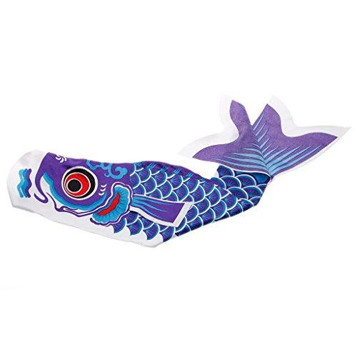 YGMONER Japanese Koi Fish Windsock Fish Flag Hanging Wall Car Decor (35.4 INCH, Blue)