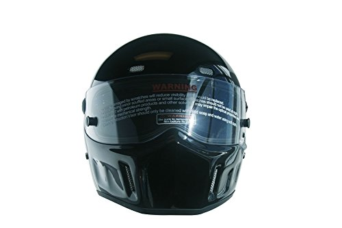 CRG Sports ATV Motocross Motorcycle Scooter Full-Face Fiberglass Helmet DOT Certified ATV-1 Glossy Black Size Large by CRG Sports (Image #1)