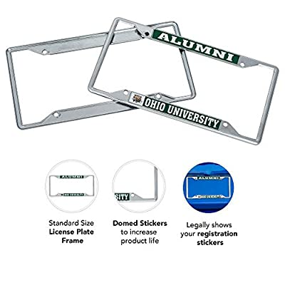 Desert Cactus Ohio University Bobcats NCAA Metal License Plate Frame for Front Back of Car Officially Licensed (Alumni): Automotive