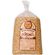 Amish Country Popcorn - Ladyfinger Popcorn (6 Pound Bag) - Old Fashioned, Non GMO, Gluten Free with Recipe Guide