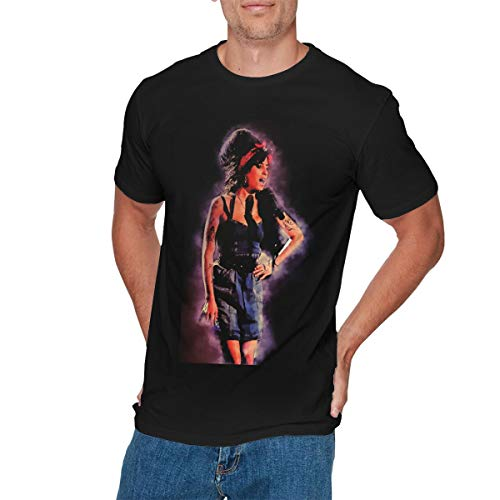 GEORGE MANNING Mens Particular Amy-Winehouse T-Shirts 3XL Black]()