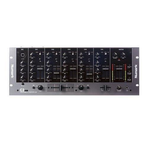 Numark C3USB Five-Channel Mobile DJ Rack Mixer with USB I/O