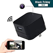 Corprit Wireless Hidden Spy Camera, HD 1080P USB Wall Charger Adapter Home Security Nanny Camera