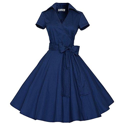 Frauen Vintage Polka Dot Retro Prom elegante Kleider 50er 60er Jahre ...