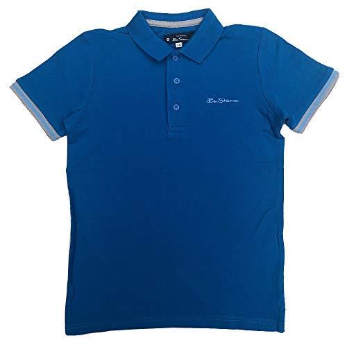 Ben Sherman Niños Polo Camiseta Azul Imperial Edad 7 Años hasta 15 ...