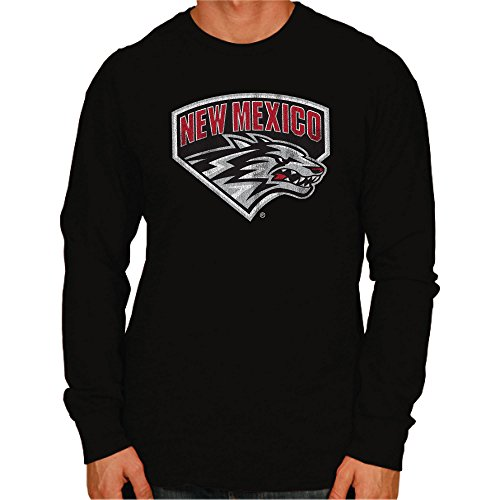 NCAA New Mexico Lobos Men's Long Sleeve Tee, X-Large, Black