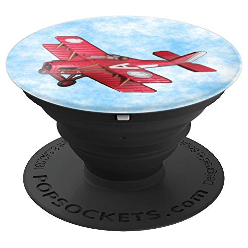 - Red Biplane - An Airplane with Two Wings - PopSockets Grip and Stand for Phones and Tablets