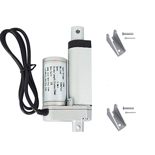 ECO-WORTHY 12V 2 Inch Stroke Linear Actuator 330lbs Maximum Lift with Mounting Brackets (12VDC 2'') ()