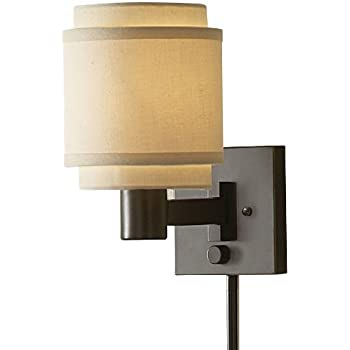 Allen Roth One Light Swing Arm Wall Lamp Wall Sconces
